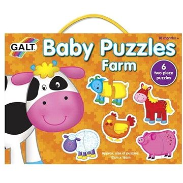 GALT Puzzle pro nejmenší – Zvířátka na farmě (5011979526410)