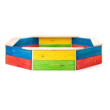 Woody Dřevěné pískoviště barevné (8591864103102)