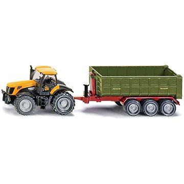 Siku Farmer - Traktor JCB Fasttrac 8250 s kontejnerovým přívěsem (4006874018550)