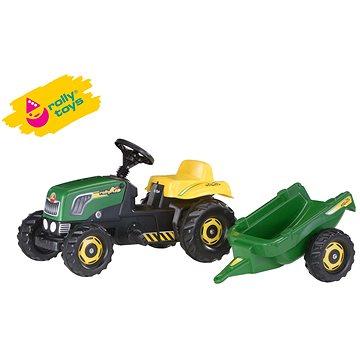 Šlapací traktor Rolly Kid s vlečkou - zelený (4006485012442)