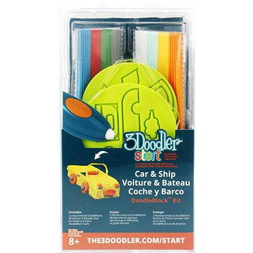 3Doodler Start – DoodleBlock Car & Ship (3DS-DBK-VE-R)