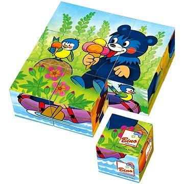 Bino Dřevěné kostky - Baribal (4019359132054)