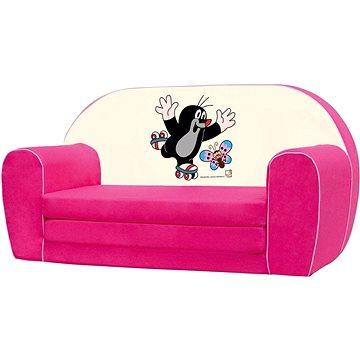 Bino Mini-pohovka růžová - Krteček (4019359137806)