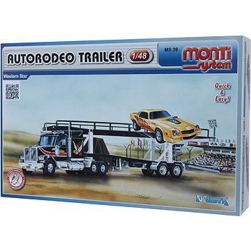 Monti system 39 - Autorodeo trailer Western star měřítko 1:48 (8592812139006)