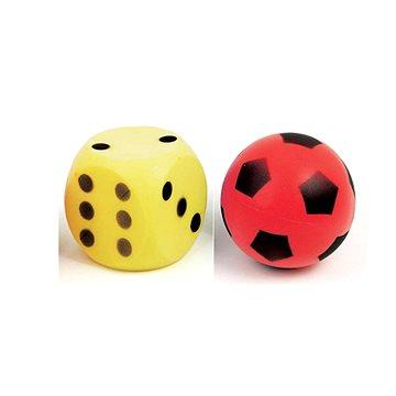 Pěnová kostka s puntíky + míč (8595105720219)