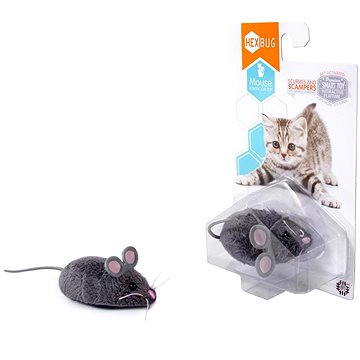 Hexbug - Robotická myš šedá (807648030310)