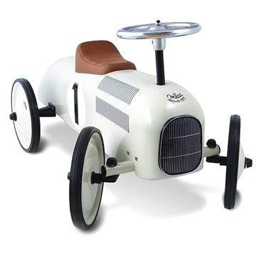 Kovové odrážedlo - Historické závodní auto bílé (3048700011022)