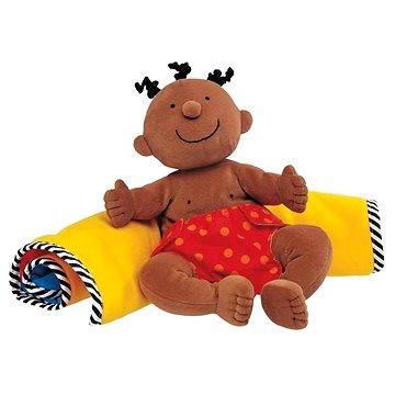 Ks Kids Hadrový panáček s dekou a mnoha aktivitami - černoušek (4892493130182)