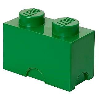 LEGO Úložný box 125 x 250 x 180 mm - tmavě- zelený (5706773400249)