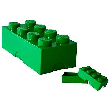 LEGO Box na svačinu 100 x 200 x 75 mm - tmavě zelený (5706773402342)