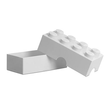 LEGO Box na svačinu 100 x 200 x 75 mm - bílý (5706773402335)