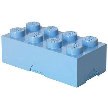 LEGO Box na svačinu 100 x 200 x 75 mm - světle modrý (5706773402366)