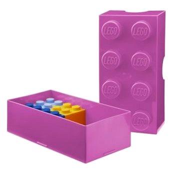 LEGO Box na svačinu 100 x 200 x 75 mm - růžový (5706773402397)