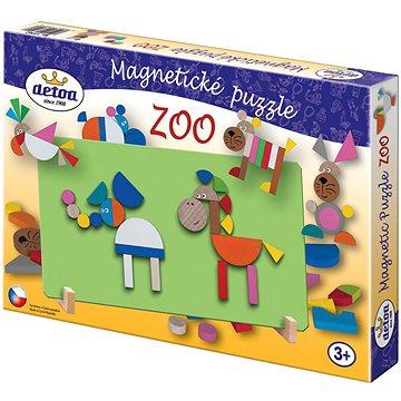 Dřevěné hračky - Magnetické puzzle ZOO (8593547030248)