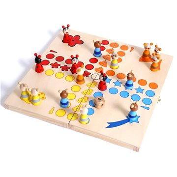 Dřevěné hry - Člověče nezlob se, zvířátka (4020972073587)
