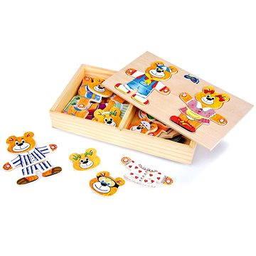 Dřevěné hračky - Oblékání medvědů (4008671071820)