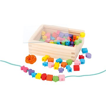 Drevené navliekacie koráliky v krabičke(4020972110602)