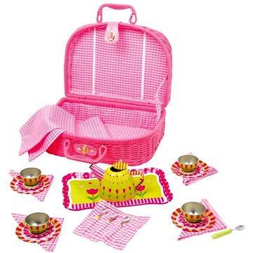 RaKonrad Dětský růžový piknikový koš - Květina (4020972053053)