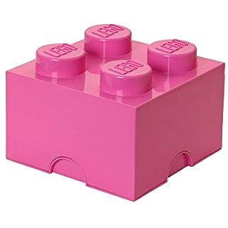 LEGO Friends Úložný box 4 250 x 250 x 180 mm - růžový (5711938018092)