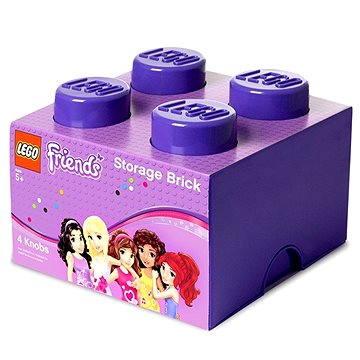 LEGO Friends Úložný box 4 250 x 250 x 180 mm - fialový (5711938018115)