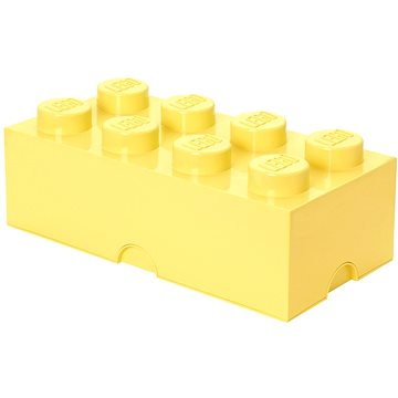 LEGO Úložný box 8 250 x 500 x 180 mm - světle žlutý (5711938015695)