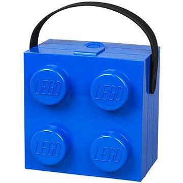 LEGO box s rukojetí 166 x 165 x 117 mm - modrý (5711938023683)