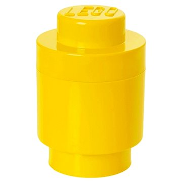 LEGO úložný box kulatý o123 x 183 mm - žlutý (5711938000035)