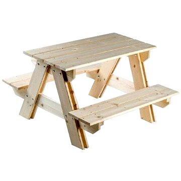 Drevená súprava stolík + lavica (8594180540200)