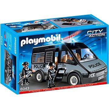 6043 Polizei-Einsatzwagen mit Blaulicht und Sirene