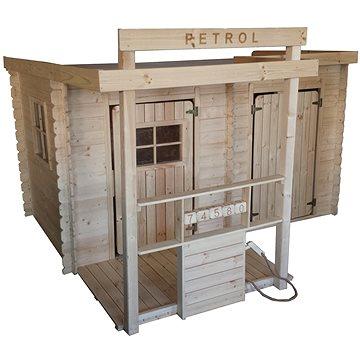 Detský drevený domček CUBS – Petrol(641938432831)