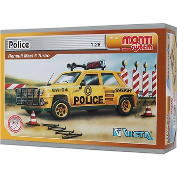 Monti system 41 - Police-Renault Maxi 5 1:28 (8592812101201)