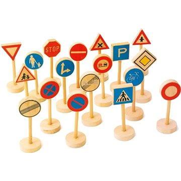 Dřevěné dětské dopravní značky velké (4020972070647)