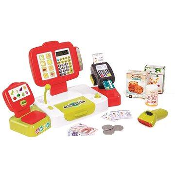 Smoby Pokladna elektronická s váhou červená (3032163501077)