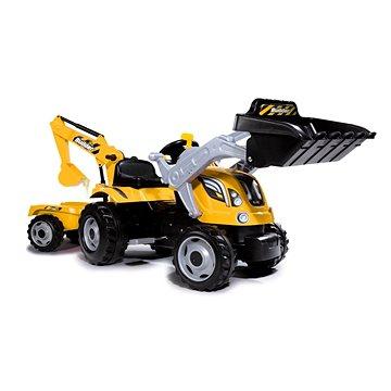 Smoby Šliapací traktor Builder Max s bagrom a vozíkom(3032167103017)