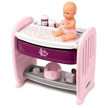 Smoby Baby Nurse 2v1 postýlka/přebalovací pult (3032162203538)