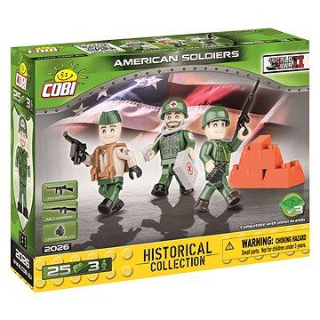Cobi 3 figurky s doplňky Americká armáda (5902251020262)
