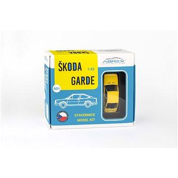 Abrex Škoda Garde (1982) 1:43 - Žlutá Sluneční - Stavebnice (8592420412379)