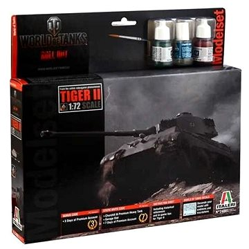 Italeri Set World of Tanks 74001 - Tiger II (8001283740012)