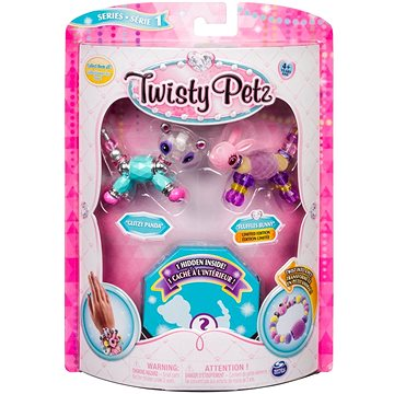 Twisty Petz 3 náramky/zvířátka - Panda a Bunny (ASRT778988543764c)