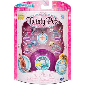 Twisty Petz 4 náramky zvířecích miminek - Puppy a Panda (ASRT778988544235b)