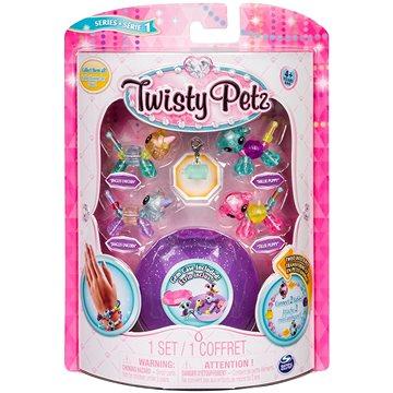 Twisty Petz 4 náramky zvířecích miminek - Unicorn a Puppy (ASRT778988544235c)