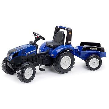 Traktor šliapací New Holland T8 modrý s prívesom(3016200309024)