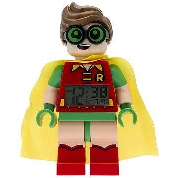 Hodiny do dětského pokoje LEGO Batman Movie Robin hodiny s budíkem (5060286802090)