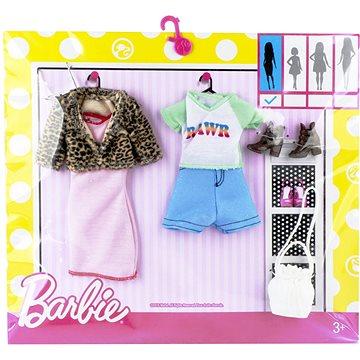 Mattel Barbie Dvoudílný set oblečení - tygrované a modrobílé (ASRT0887961459425)