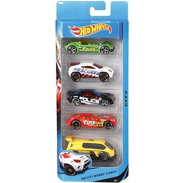 Hot Wheels Angličáky 5ks (0074299018060)