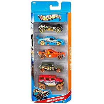 Hot Wheels Angličáky 5 ks - Jungle Rally (ASRT0074299018060)