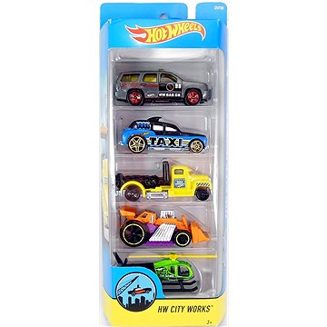 Hot Wheels Angličáky 5 ks - HW City Works (ASRT0074299018060)
