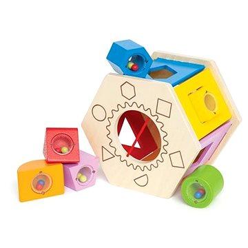 Hape Krabička na vkládání geometrických tvarů (6943478002548)
