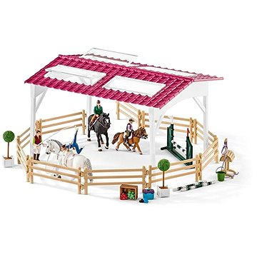 Schleich 42389 Jezdecká škola s jezdci a koňmi (4055744013843)