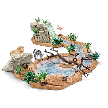 Schleich Zvířecí svět u vodopádu (4005086423213)